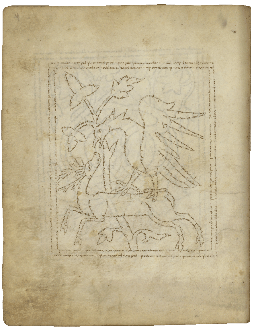 Folio 4r. See the the adjacent commentary volume extract for a detailed description of this page.