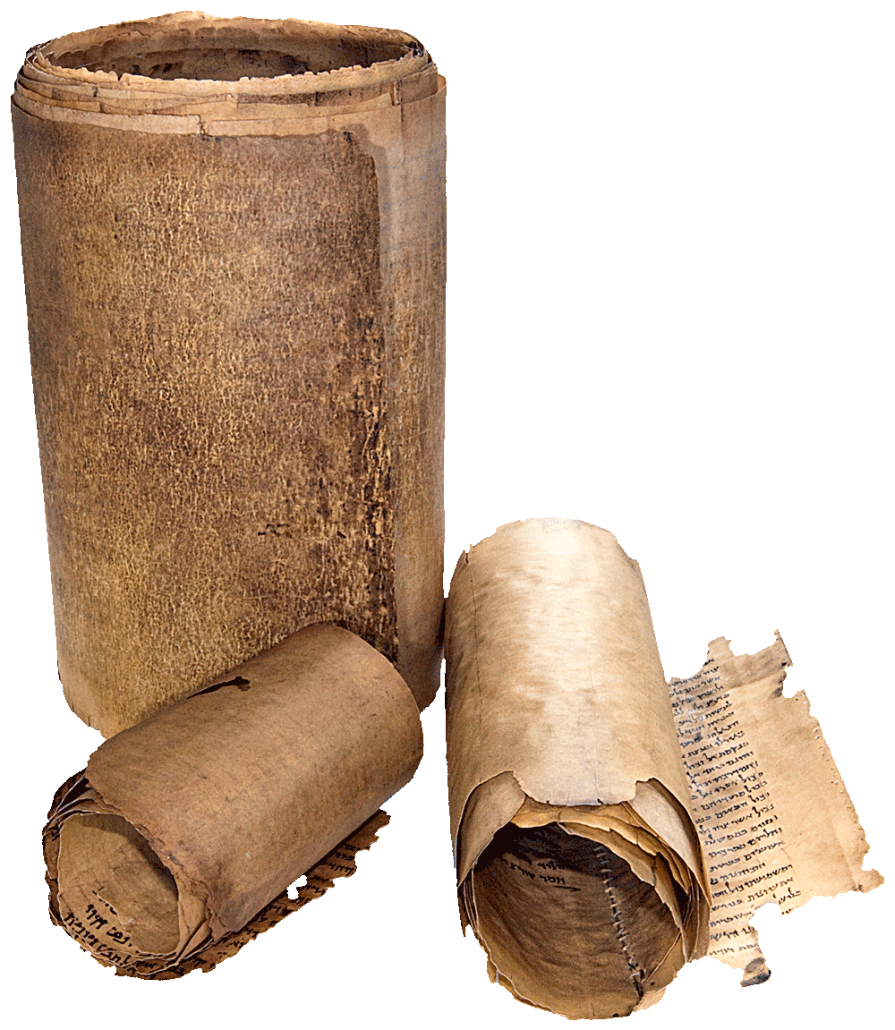 """The set of three facsimiles of the most complete Dead Sea Scrolls. Image © Copyright 2021 Facsimile Editions Ltd. <small>To use this image please visit: <a href=""""https://www.facsimile-editions.com/copyright/"""">Copyright T&C Facsimile Editions Ltd</a></small>"""