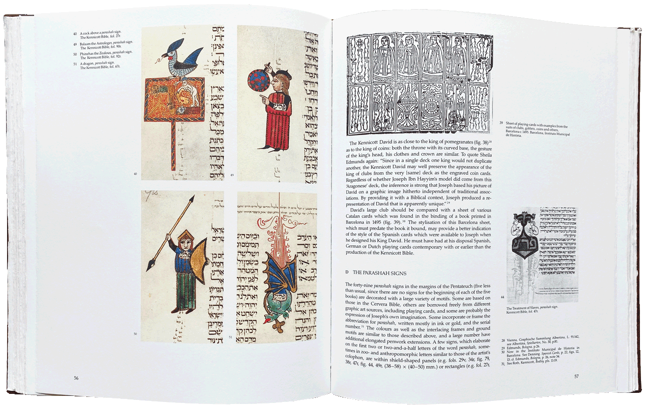 """Pages 56-57 of the 98 page Commentary Volume with extensive bibliography. <small><a href=""""https://www.facsimile-editions.com/copyright/"""">© Copyright 2021 Facsimile Editions Ltd</a></small>"""