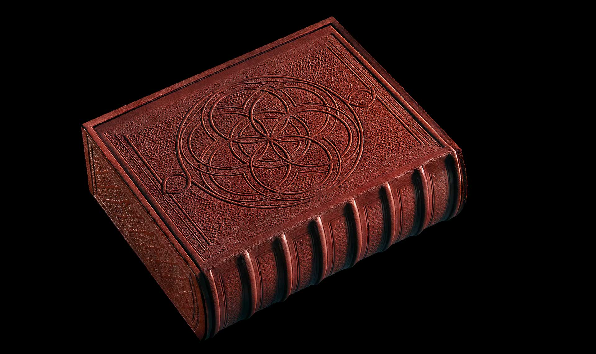 """The Mudejar binding is unique to Hebrew manuscripts. Only six box-bindings of this type exist today.  <small><a href=""""https://www.facsimile-editions.com/copyright/"""">© Copyright 2021 Facsimile Editions Ltd</a></small>"""