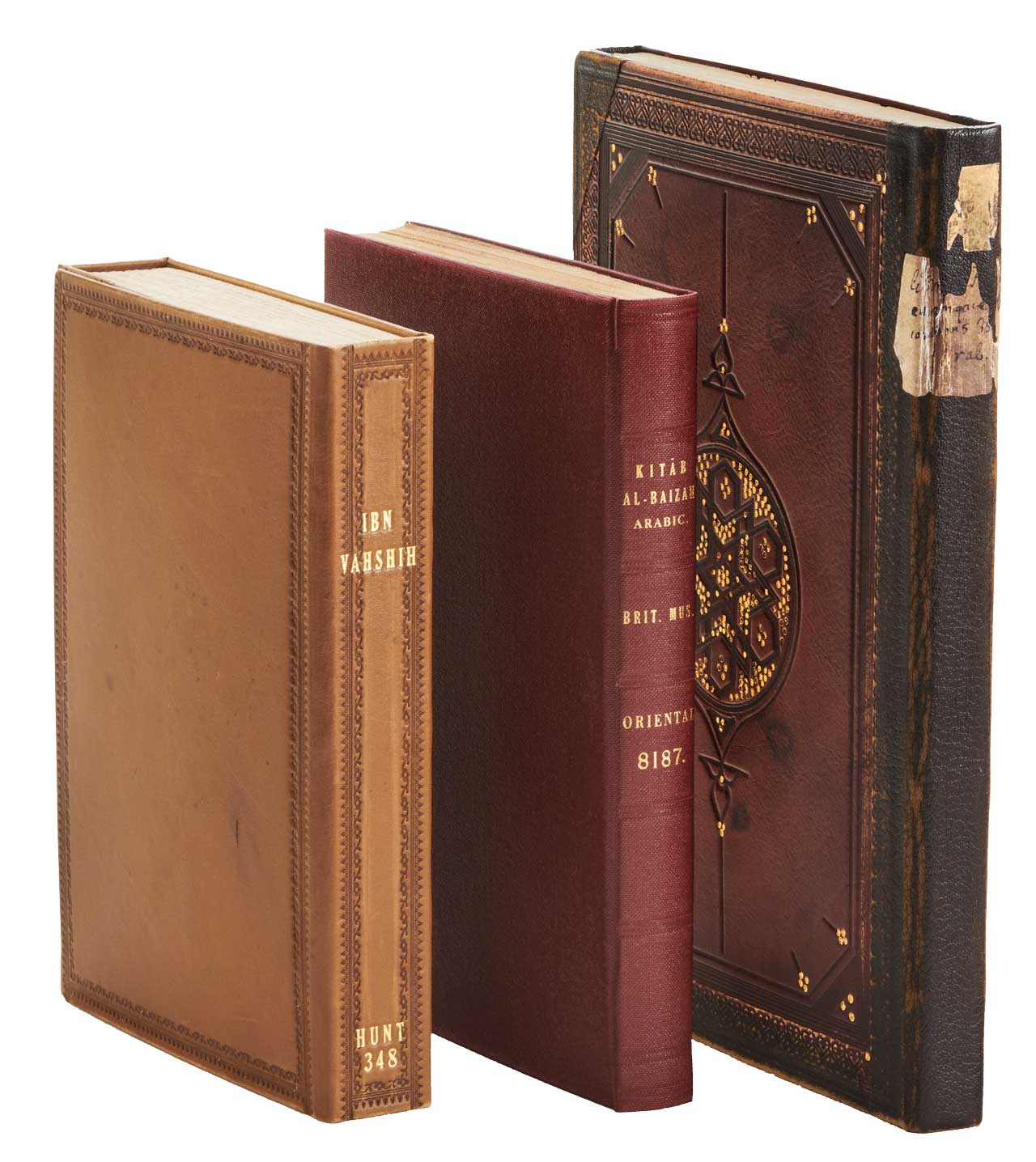 """The facsimiles of the Bodleian Library's Hunt 348 and Marsh 148 and the British Library's Or 8187 (centre). Image of the facsimiles. <small><a href=""""https://www.facsimile-editions.com/copyright/"""">© Copyright 2021 Facsimile Editions Ltd</a></small>"""