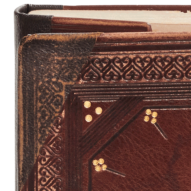 """Repairs are all accurately reproduced. Image from the facsimile. <small><a href=""""https://www.facsimile-editions.com/copyright/"""">© Copyright 2021 Facsimile Editions Ltd</a></small>"""
