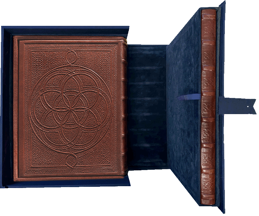 """Library case containing the Kennicott Bible and Commentary volume  <small><a href=""""https://www.facsimile-editions.com/copyright/"""">© Copyright 2021 Facsimile Editions Ltd</a></small>"""