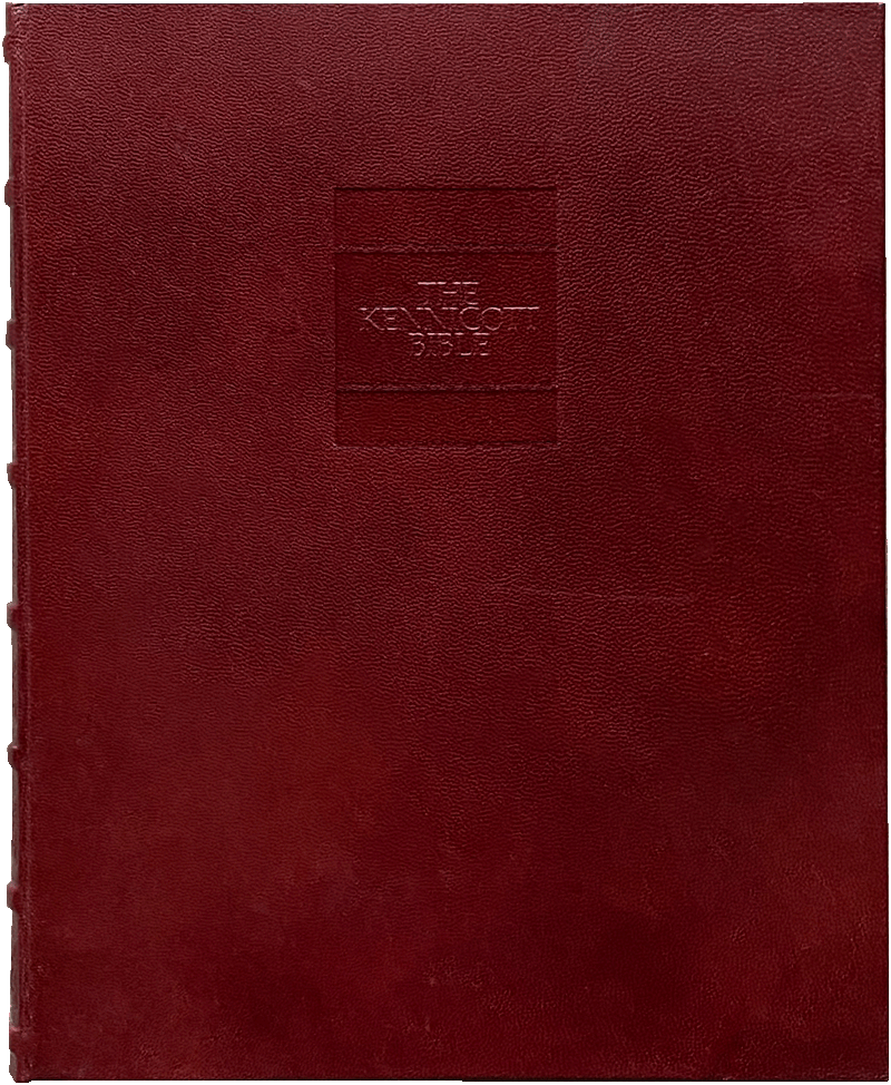 """The commentary volume bound in morocco goatskin to match the facsimile. <small><a href=""""https://www.facsimile-editions.com/copyright/"""">© Copyright 2021 Facsimile Editions Ltd</a></small>"""