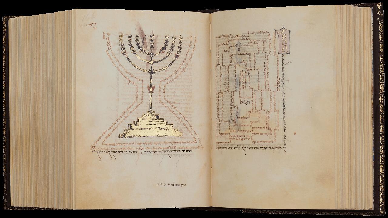 "Folio 168a/167b Liturgy for the Sabbath <small><a href=""https://www.facsimile-editions.com/copyright/"">© Copyright 2021 Facsimile Editions Ltd</a></small>"