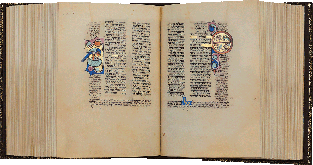 """Folio 325a/324b Prayers recited during Pentecost <small><a href=""""https://www.facsimile-editions.com/copyright/"""">© Copyright 2021 Facsimile Editions Ltd</a></small>"""