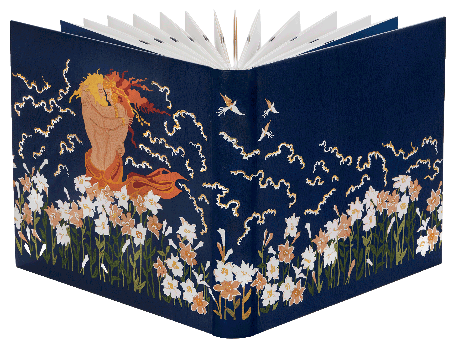 The Song of Songs binding with 1,000 individually cut pieces of finest goatskin © Copyright 2021 Facsimile Editions Limited