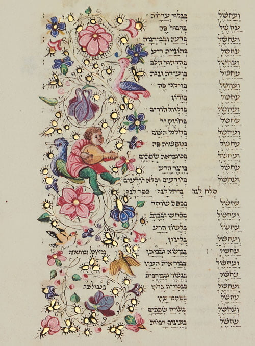 """Folio 139b - Confessing sins on the Day of Atonement<small><a href=""""https://www.facsimile-editions.com/copyright/"""">  © Copyright 2020 Facsimile Editions Ltd</a></small>"""