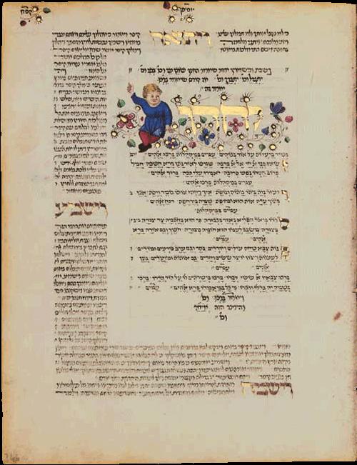 "Folio 246a - Detail illuminating Yozer for Sabbath and marriage <small><a href=""https://www.facsimile-editions.com/copyright/"">© Copyright 2020 Facsimile Editions Ltd</a></small>"