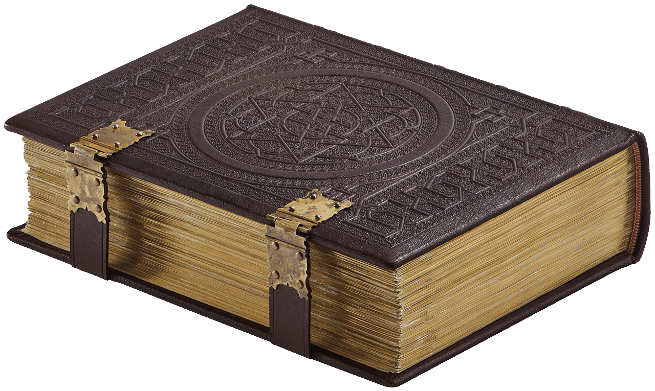 """The magnificent facsimile binding, intricately blind-tooled on all sides. The artist, Goldie Grahame created the artwork for the tooling used in the binding of the facsimile. © Copyright 2021 Facsimile Editions Ltd. <small>For use visit: <a href=""""https://www.facsimile-editions.com/copyright/"""">Copyright T&C Facsimile Editions Ltd</a></small>"""