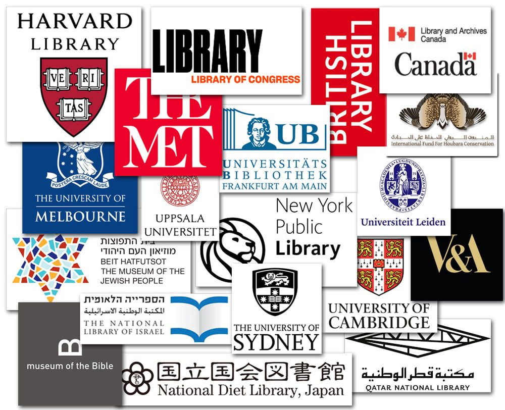 Click to see the libraries around the world that collect and commission our work