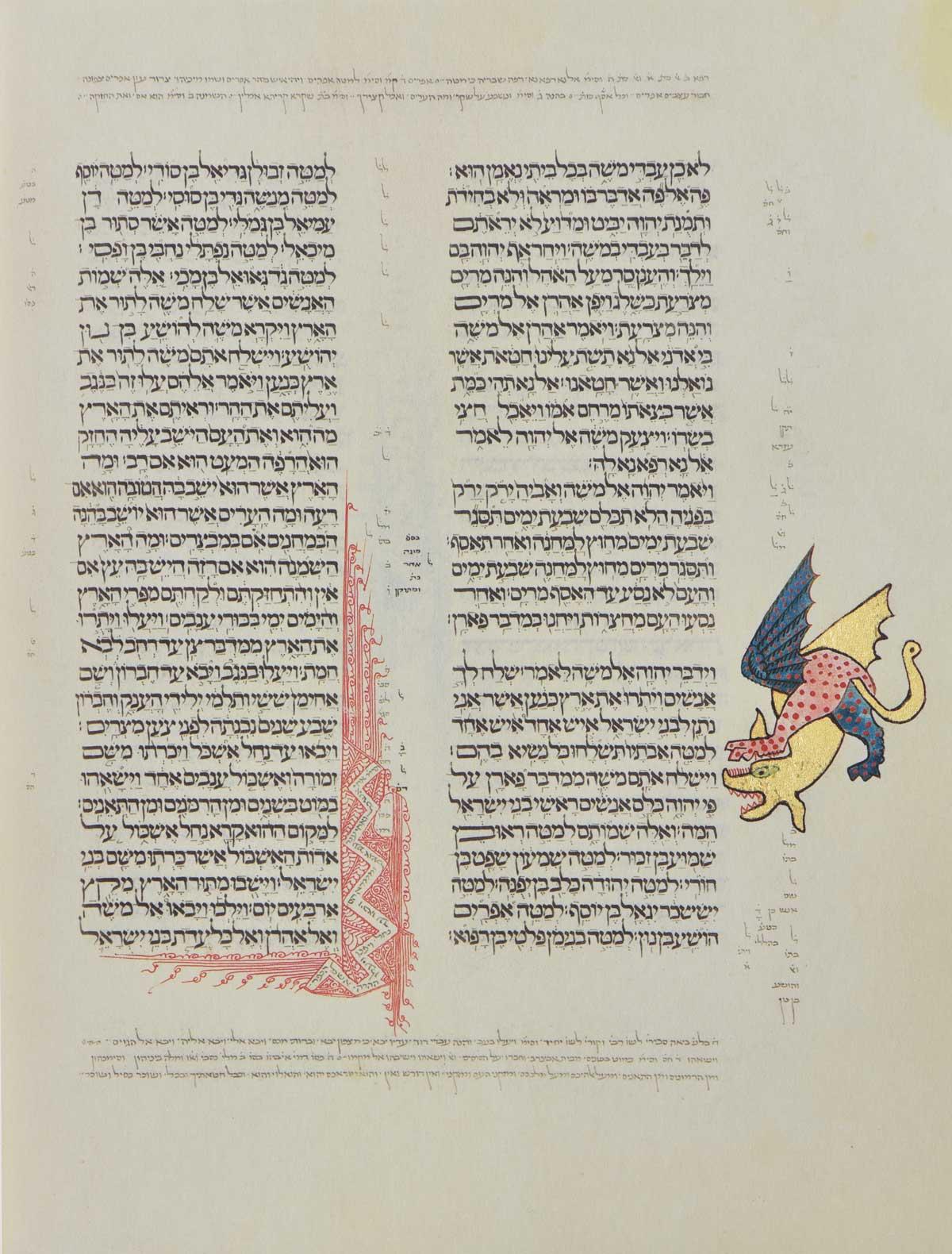 "Kennicott Bible folio 84b Parashat Shelach Lecha  <small><a href=""https://www.facsimile-editions.com/copyright/"">© Copyright 2021 Facsimile Editions Ltd</a></small>"